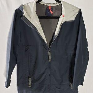 GAP Boys Navy Windbreaker hood jacket Large 10